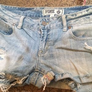 VS PINK brand frayed shorts